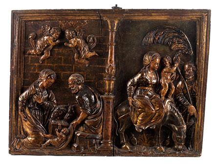 Relief mit der Heiligen Familie