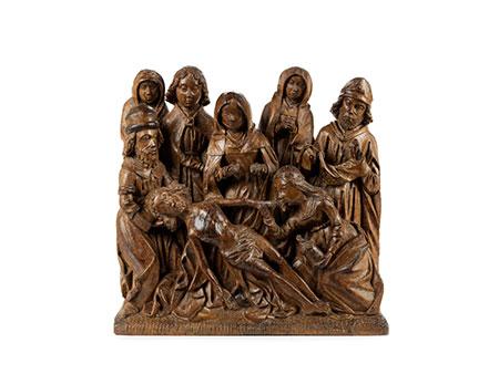 Mehrfigurige Schnitzgruppe der Beweinung Christi