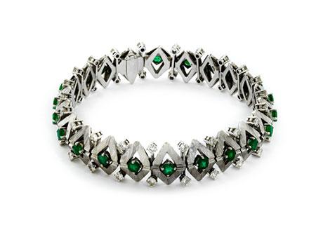 Detail images:  Smaragd-Diamantarmband
