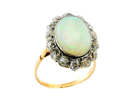 Detail images:  Opal-Diamantring