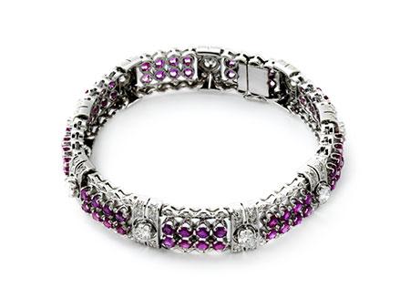 Detailabbildung: Rubin-Diamantarmband