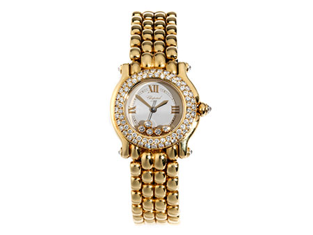 Damen-CHOPARD Happy Sport in Gold mit Brillanten