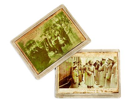 Paar Fotografien Zar Nikolaus II