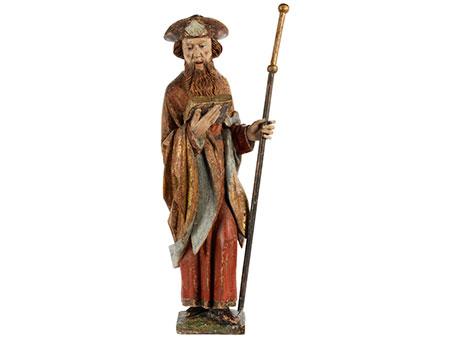 Spätgotische Schnitzfigur des Heiligen Jakobus