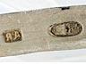 Detail images: Russische Kristallschale mit Silberhenkeln