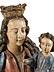 Detail images: Schnitzfigur einer Madonna mit dem Kind