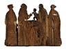 Detail images: Große spätgotische Schnitzfigurengruppe
