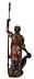 Detail images: Allegorische Schnitzfigur einer Schildträgerin mit Lanze