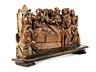 Detail images: Spätgotische Schnitzfigurengruppe der Apostel am Sterbebett Mariens