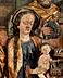 Detail images: Großes spätgotisches Schnitzrelief der Anbetung der Könige