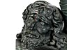 Detailabbildung: Bronzegussfigur des David mit dem Haupt des Goliath nach dem Original von Andrea di Michele Cioni, gen. Andrea del Verrocchio (1435 – 1488)