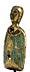 Detail images: Kleine Limoges-Büste einer Heiligen, wohl Marienfigur