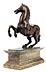 Detail images: Kleines Renaissance-Bronzepferd auf Marmorsockel