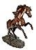 Detail images: Bronzefigur eines sich aufbäumenden Pferdes