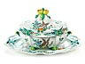 Detail images: Barocke Deckelterrine mit ovaler Presentoirplatte