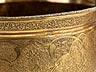 Detail images: Deckelschale in Messingbronze