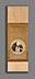 Detail images: Priesterbildnis mit Andachtskette auf einer Mondsichel in Tondoform