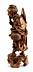 Detailabbildung: Chinesische Schnitzfigur eines alten Fischers