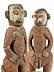 Detail images: Geschnitztes Ahnenfigurenpaar