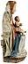 Detail images: Museale Schnitzfigur einer Traubenmadonna mit Kind