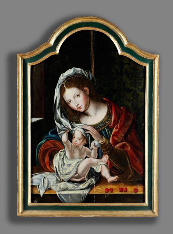 Detailabbildung: Jan Gossaert, genannt Mabuse , um 1478 Maubeuge – 1532 Mittelburg, zug.
