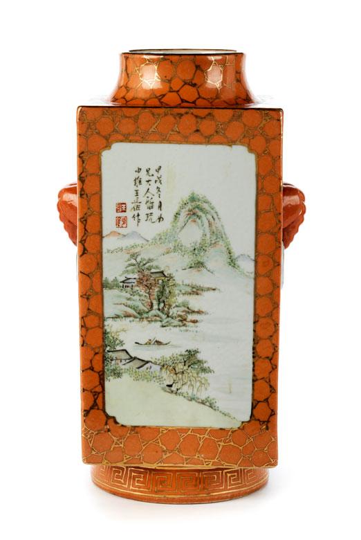 Cong-Vase mit Landschaften