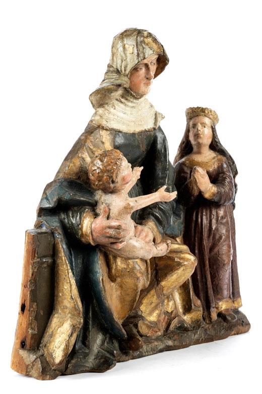 Detailabbildung: Spätgotische Anna Selbdritt-Figurengruppe