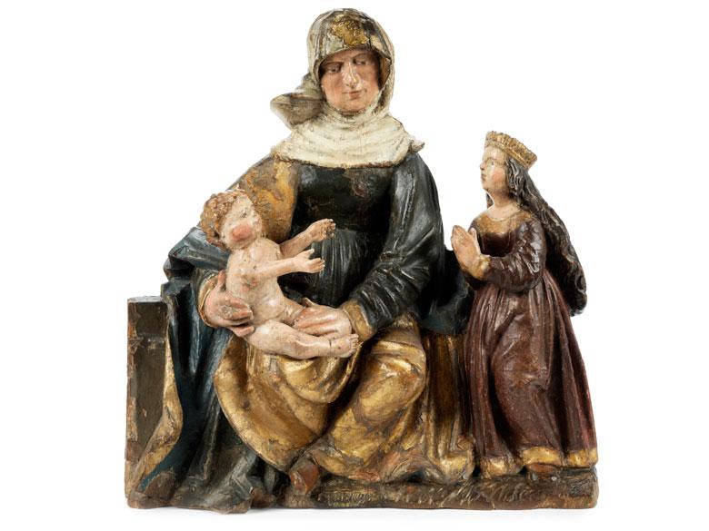 Spätgotische Anna Selbdritt-Figurengruppe