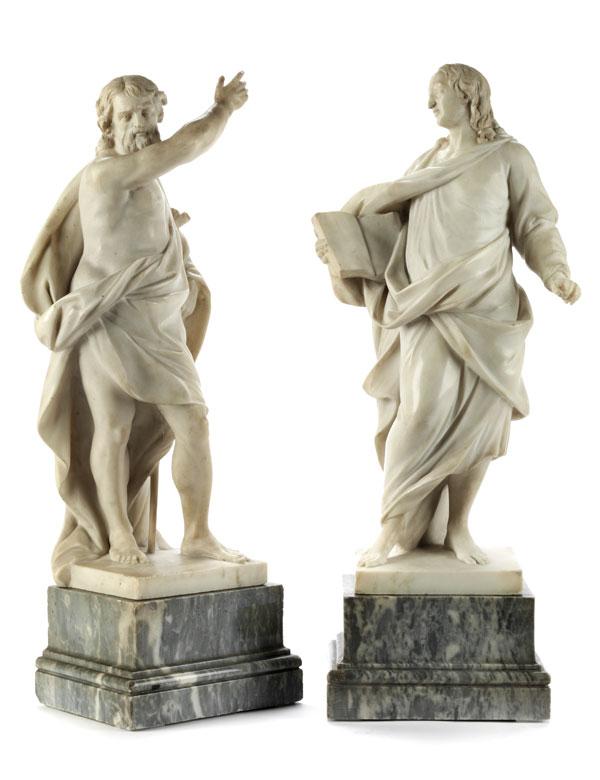 Detailabbildung: Johannes der Täufer und Johannes der Evangelist