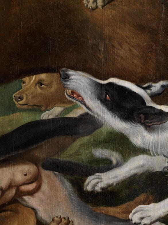 Detailabbildung: Frans Snyders, 1579 Antwerpen – 1657 ebenda, zug. in Gemeinschaftsarbeit mit Paul de Vos (um 1591-1678),