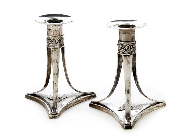Paar römische Empire-Leuchter