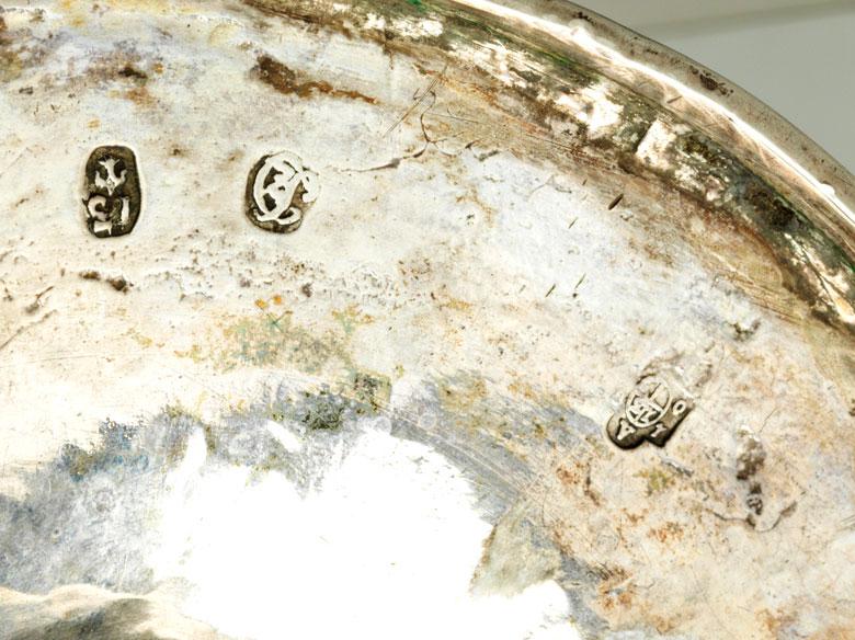 Detailabbildung: Paar Wiener Silberleuchter