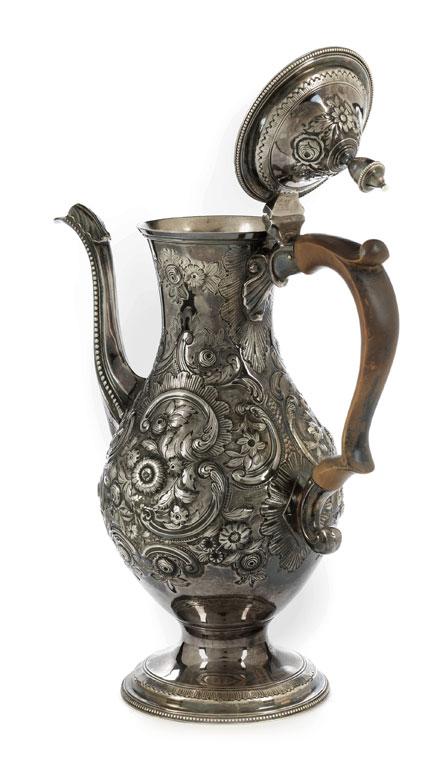 Detailabbildung: Londoner George III-Silver coffee pot