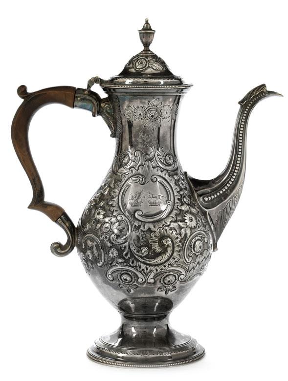 Londoner George III-Silver coffee pot