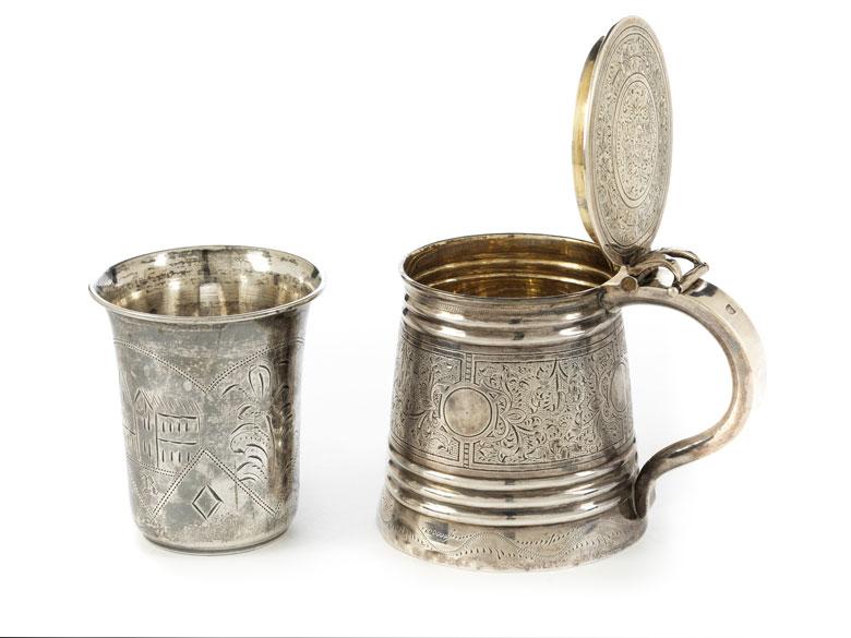 Detailabbildung: Feiner Moskauer Silberhumpen und Becher