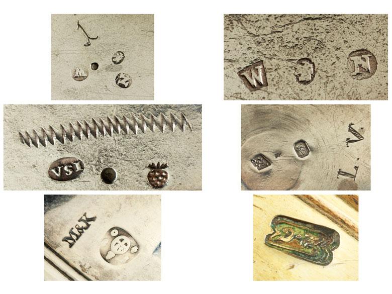 Detailabbildung: Sechs Silberbecher