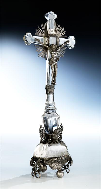 Detailabbildung: Altarkreuz aus Bergkristall