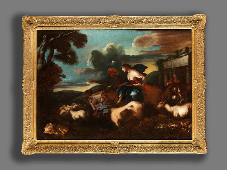 Detailabbildung: Giovanni Benedeto Castiglione, 1609 – 1664, zug.