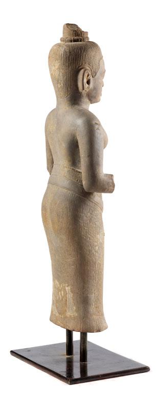 Detailabbildung: Figur eines Vishnu im Khmer-Stil