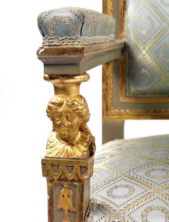 Detailabbildung: Sitzgarnitur im klassizistischen Stil