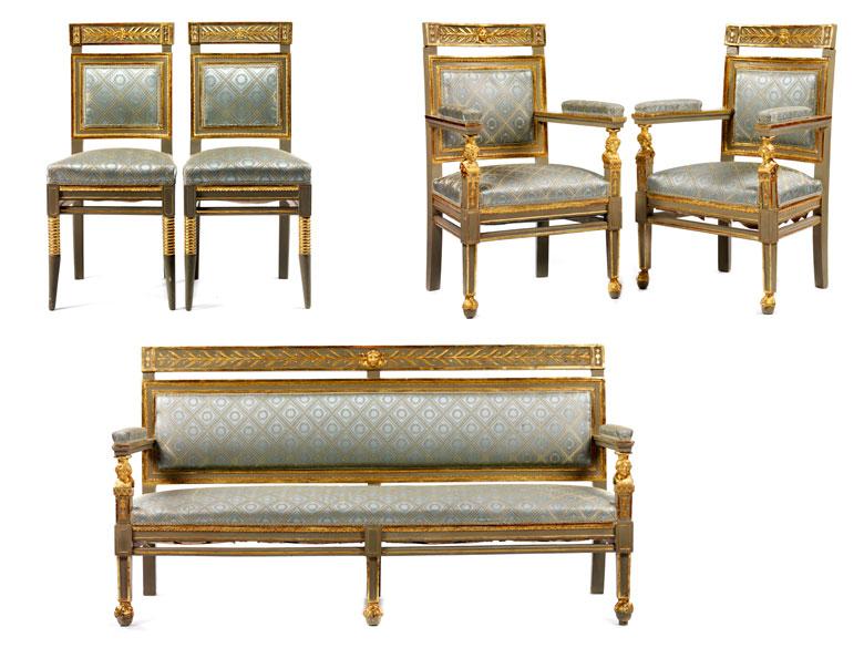 Sitzgarnitur im klassizistischen Stil