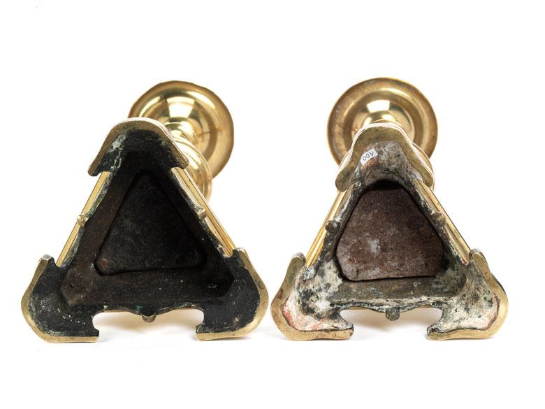Detailabbildung: Paar barocke Bronzeleuchter