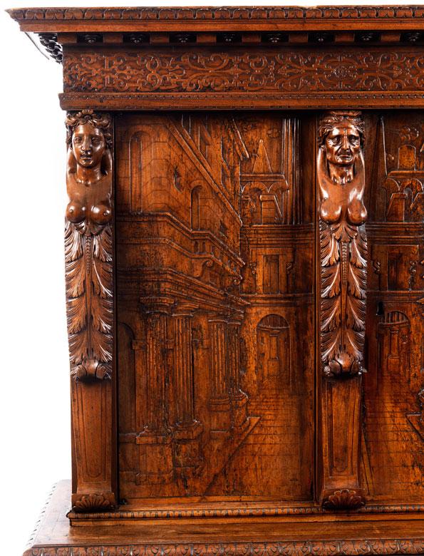 Detailabbildung: Lyoneser Kabinettschrank