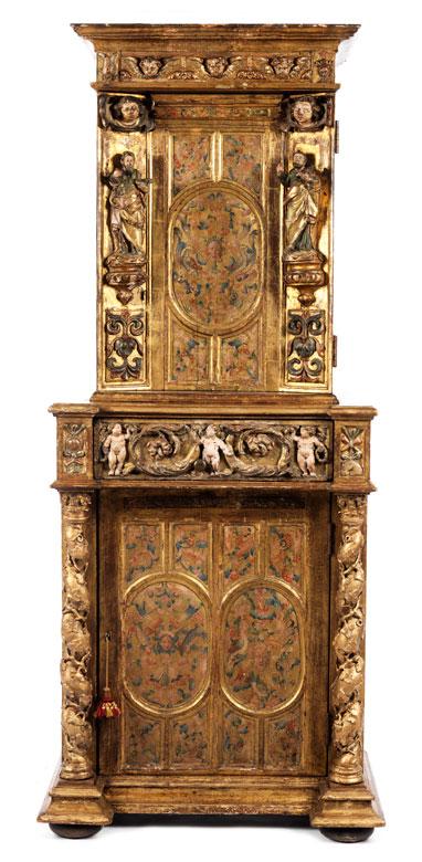 Detailabbildung: Seltener venezianischer Sakristeischrank
