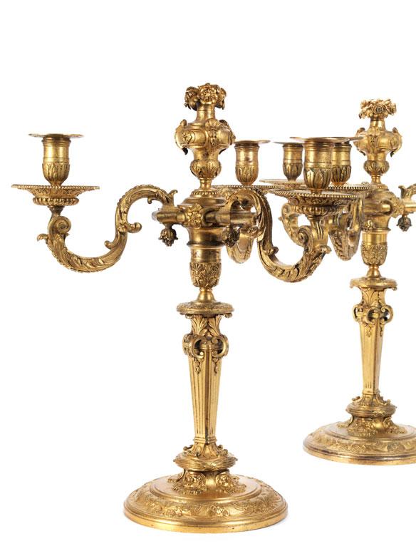 Detailabbildung: Paar Napoleon III-Girandolen
