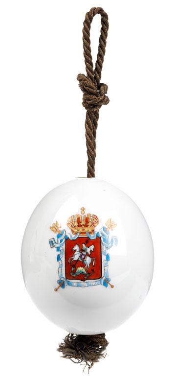 Osterei mit Wappen Moskaus