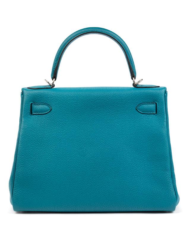 Detailabbildung: Hermès Kelly Togo Cobalt Retourne 28 cm