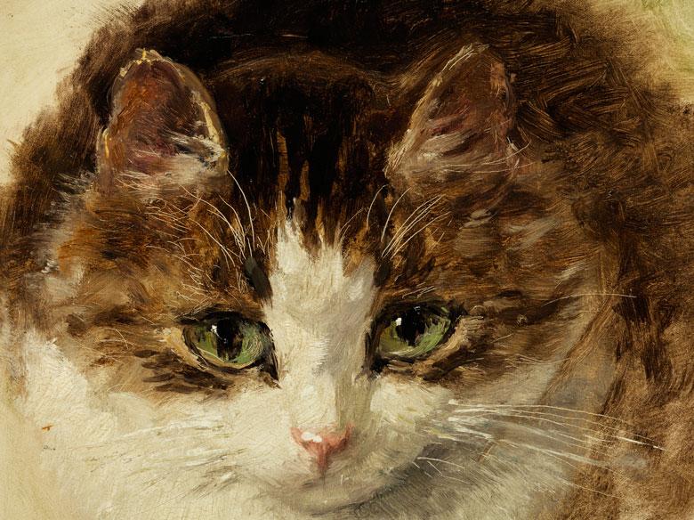 Detailabbildung: Henriette Ronner-Knip, 1821 Amsterdam – 1909 Brüssel