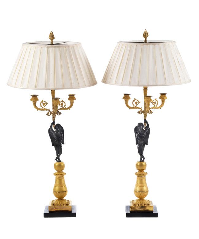 Paar große Empire-Leuchter