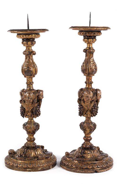 Paar frühbarocke Leuchter